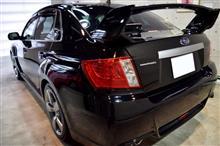 『高出力・2L・ターボの代表車』インプレッサWRX STIのガラスコーティング【リボルト札幌】