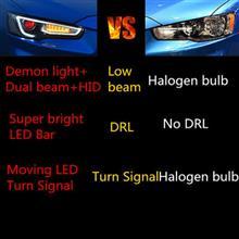 改装 升级 三菱 翼神 A5款 LED 光导 大灯 总成 : 中国 ・・・・