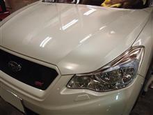 新車のスバルXVハイブリッドにセラミックプロ9Hを2層コートしたら艶々になりました。