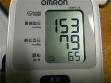 水曜夜の血圧測定も…