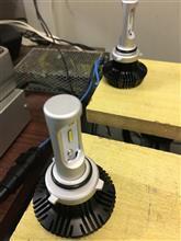LEDヘッドライトの温度テストとBレンジ