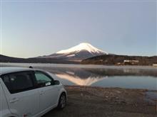 道志道から夜明けの山中湖