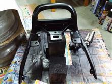 VMAX研磨塗装作業①リアステー、フロントフットレスト