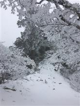 大峰山に冬到来