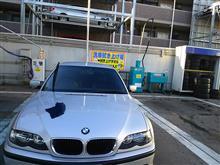 出勤前の洗車