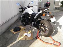 正月から、バイクの整備。
