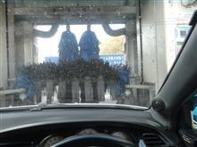 去年最後の洗車機