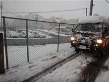 雪で教習も中止に