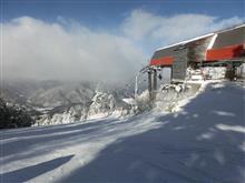 標高2130m 気温マイナス12℃ 野麦峠スキー場