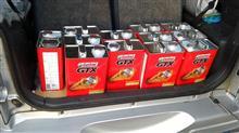 カストロールGTXを安売りで12缶購入した。