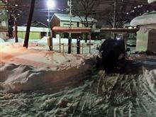 電気自動車にとって、大雪は大凶。( ;´・ω・`)