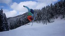 Delay skier in OKUIBUKI