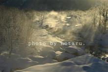 厳冬の白馬で迎えた朝
