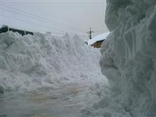 雪で予定変更