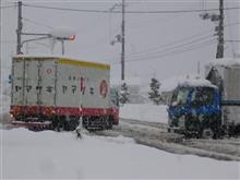 積雪で信号が見えない