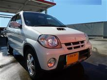 【スズキ Kei】久々に洗車した。
