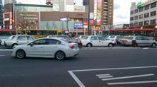 新潟駅前でインプレッサのタクシーを目撃