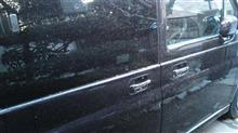 昨日の風雨で物凄かったんで,今日は7:30から洗車。 ((((・´_`・))) サムサム…。
