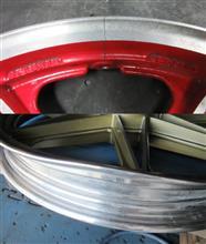 二輪ホイール/セブンスター大きな曲り、割れ修理