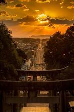 「光の道」 宮地獄神社