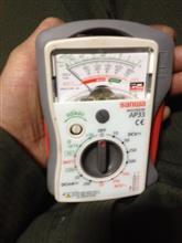 電流&電圧計器が壊れたかと焦りますた!