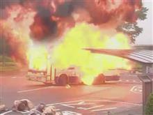 ドラマで破壊シーンに使用された富士重工製バスボディ車