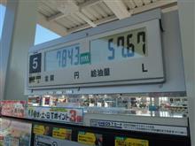 65回目の給油、いつもの休日出勤前で・・・・。