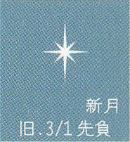 月暦 3月28日(火)