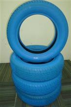 車用の青いカラータイヤ