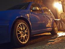 青GTI~夜間洗車です!