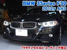 BMW 3シリーズ(F30) TVキャンセルなどコーディング施工