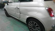 『フィアット 500C 板金・塗装・修理(車両保険)』 東京都国立市からご来店のリピーター様です。