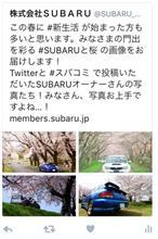 SUBARU公式SNSに愛車の写真が! #SUBARUと桜