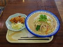 九州道上り古賀SA 野菜たっぷりちゃんぽん唐揚げセット1350円
