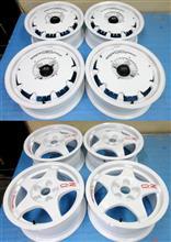 無限CF48&OZクロノ/パウダーグロスホワイト再塗装+ロゴシール作成