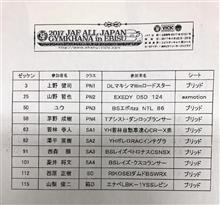 2017全日本ジムカーナ第2戦の結果入手