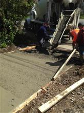 new driveway concrete
