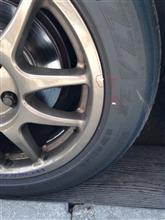 タイヤってこんなにズレるんだね。