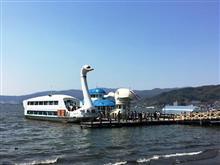 ポカポカ陽気の信州諏訪湖でのんびりな日曜日♪