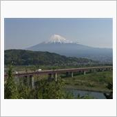 富士川SA富士山は綺麗だった
