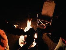 焚き火とカヌー