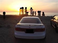 ちょっと夕陽を見に海までドライブ~!
