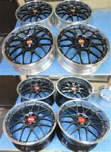 BBS-RS-GT18&20インチのパウダーマットブラック3分引き/8分引きx2台