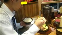 昼からステーキ(^。^)y-~
