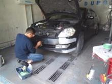 DIY  テイアナ バンパー修理