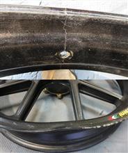 二輪BEETクローム割れ修理リフレッシュ&マルケジーニ曲り修理部分塗装