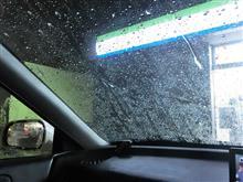 すごい集中豪雨でしたが 視界確保できていました