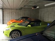 エリーゼ2台を家付き車庫に連れて来ました\(^o^)/