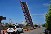 CM撮影地「手結港可動橋」