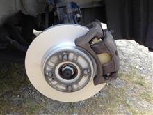 ブレーキパッド、ローターとエンジンオイル交換